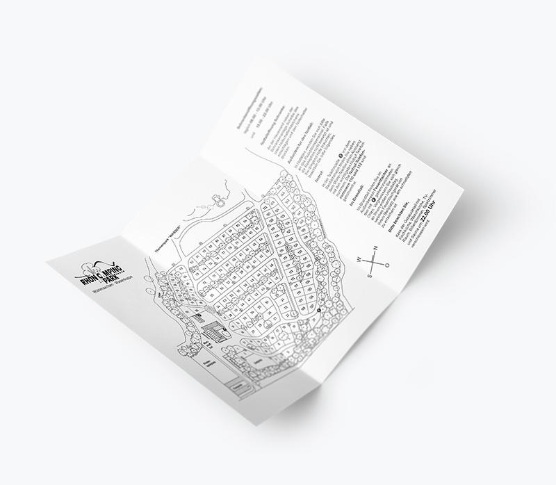 Rhön Camping-Park – Flyer Platzplan