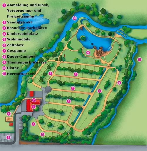 Rhön Camping-Park – Lageplan