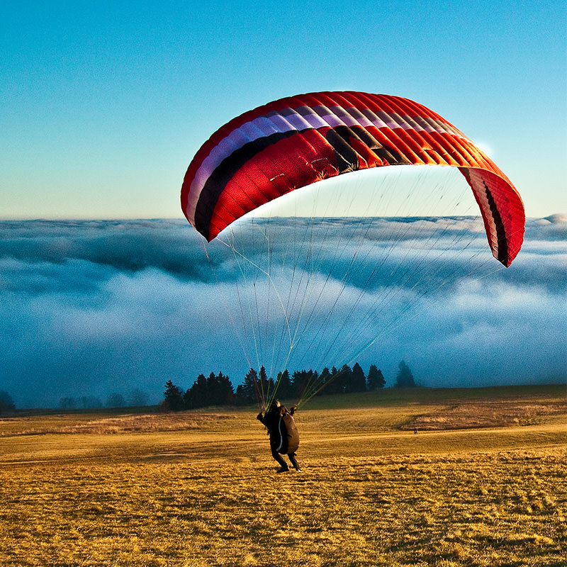 Rhön Camping-Park – Paragliding auf der Wasserkuppe